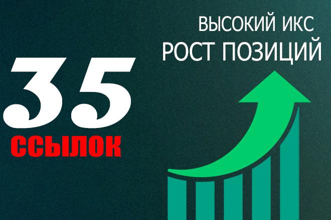 35 ссылок для роста позиций сайта высокий ИКС + бонус 1 - kwork.ru