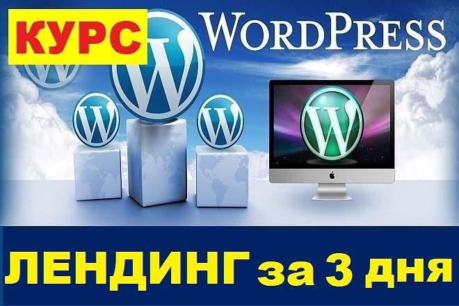 Курс - Лендинг на WordPress за 3 дня + Бонус 1 - kwork.ru