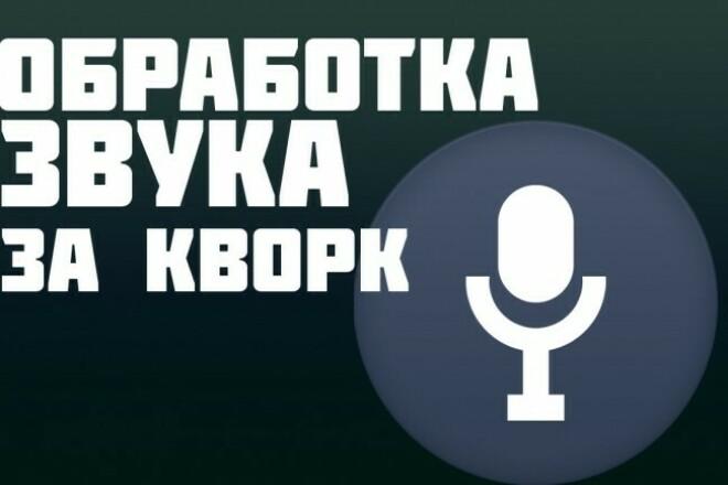 Обработка аудио, очищения от шумов 1 - kwork.ru
