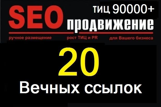 20 вечных ссылок ТИЦ 90000 + 1 - kwork.ru