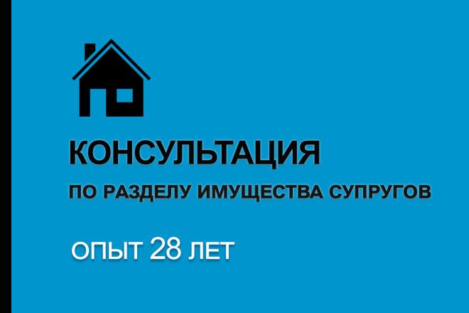 Дам консультацию по разделу имущества супругов 1 - kwork.ru