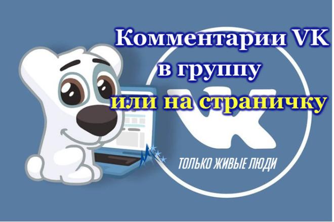 25 любых комментариев на стену в группу или профиль вконтакте 1 - kwork.ru
