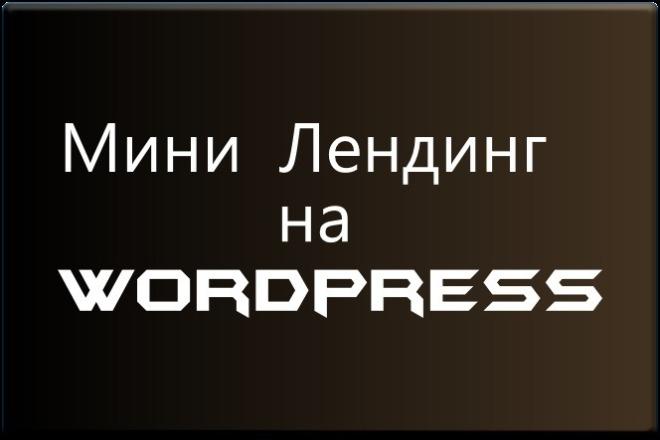 Создам простой мини лендинг на Вордпресс 8 - kwork.ru