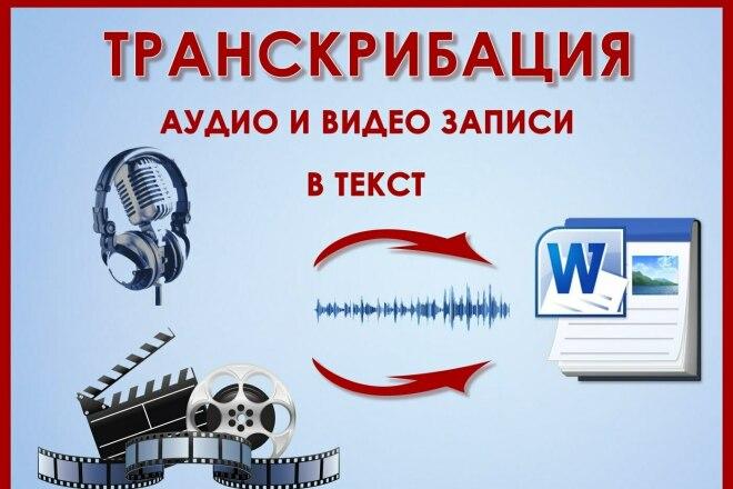 Перевод из аудио, видео в текст, транскрибация 180 минут фото