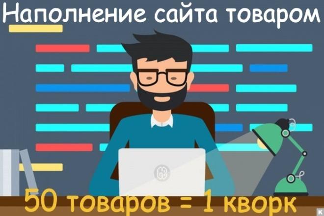 Наполнение интернет-магазина товаром или контентом 1 - kwork.ru