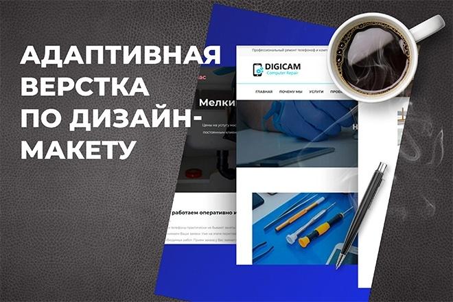 Адаптивная верстка по дизайн-макету 8 - kwork.ru