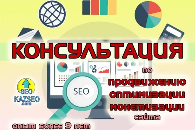Консультации по продвижению, монетизации сайта. Опыт более 9 лет 1 - kwork.ru
