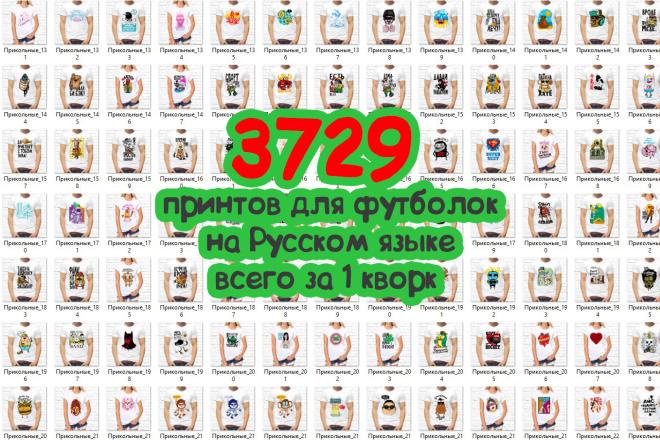 3729 принтов для футболок на русском языке в формате PNG, CDR, JPEG 6 - kwork.ru