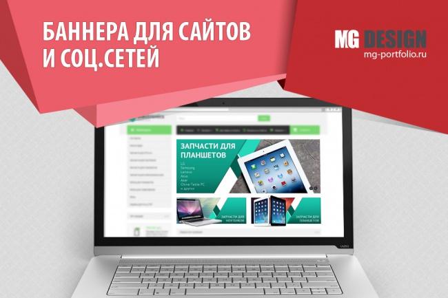 Дизайн баннеров для сайта 12 - kwork.ru