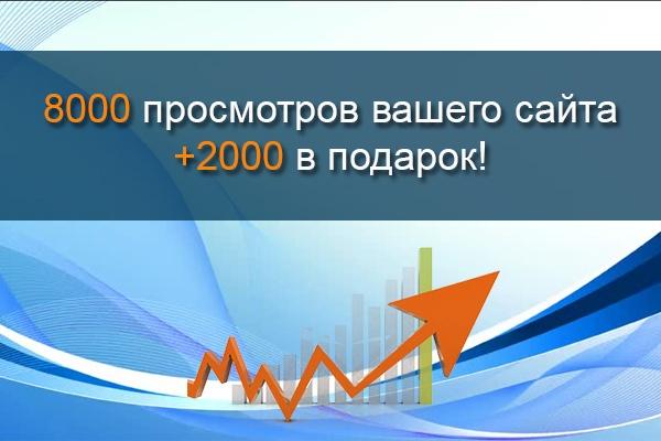 8000 просмотров сайта +2000 в подарок 1 - kwork.ru