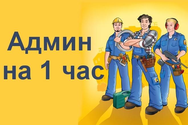 Админ на час. Настройка и администрирование сайта 1 - kwork.ru
