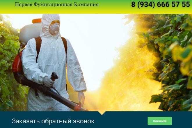 Продам сайт лендинг. Фумигационная компания. Вордпресс. +10 сайтов. 40 1 - kwork.ru