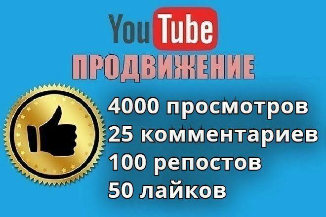 4000 живых просмотров на YouTube. Вечная гарантия 1 - kwork.ru