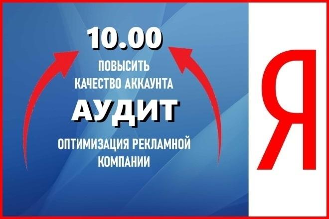 Снижу расход до 50 процентов на Яндекс Директе 1 - kwork.ru