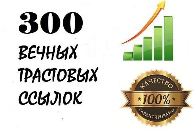 300 вечных ссылок с трастовых сайтов 1 - kwork.ru