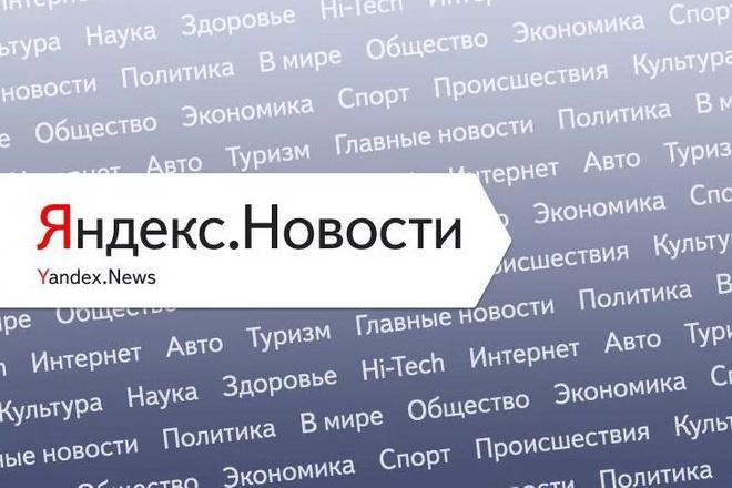 Ваша статья в Яндекс новости на крупном новостном сайте 1 - kwork.ru