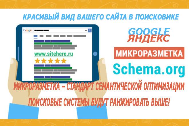 Микроразметка для вашего сайта 1 - kwork.ru