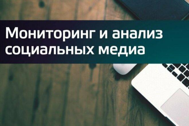Мониторинг соцсетей 1 - kwork.ru