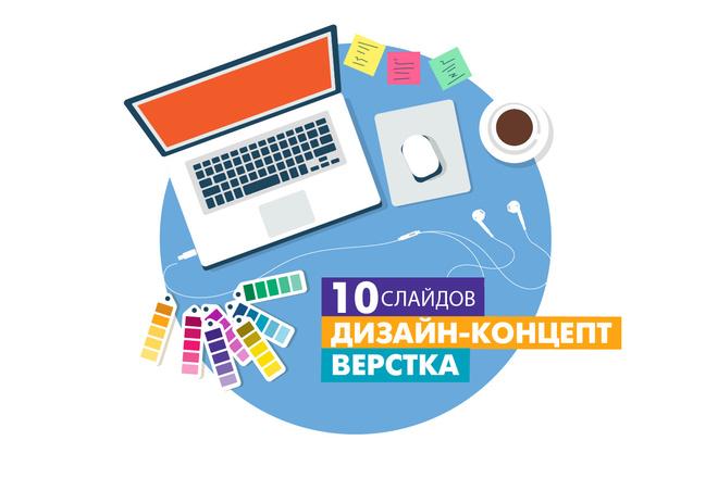 Дизайн средней презентации 12 - kwork.ru