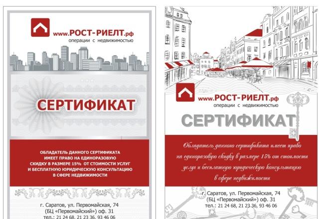 Сделаю сертификат 30 - kwork.ru