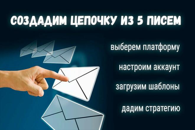 Создадим цепочку из 5 писем. Загрузим шаблон в ваш аккаунт 1 - kwork.ru