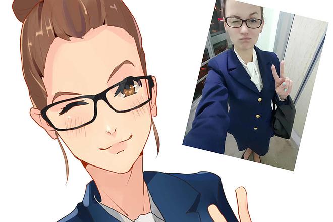 Создам ваш портрет в стиле аниме 62 - kwork.ru