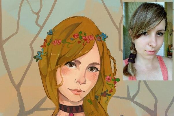 Создам ваш портрет в стиле аниме 53 - kwork.ru
