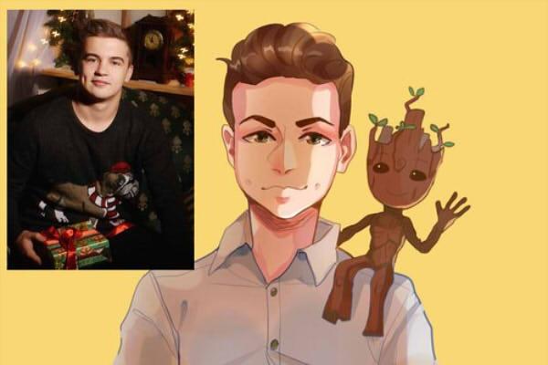 Создам ваш портрет в стиле аниме 54 - kwork.ru