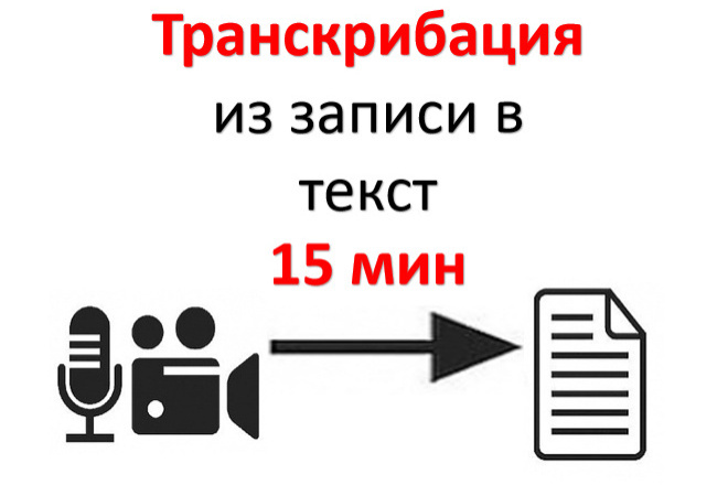 Транскрибация текста с аудио или видео 1 - kwork.ru
