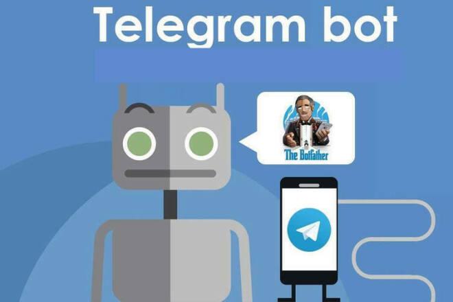 Telegram бот под ключ любой сложности с доменом в минимальные сроки 1 - kwork.ru