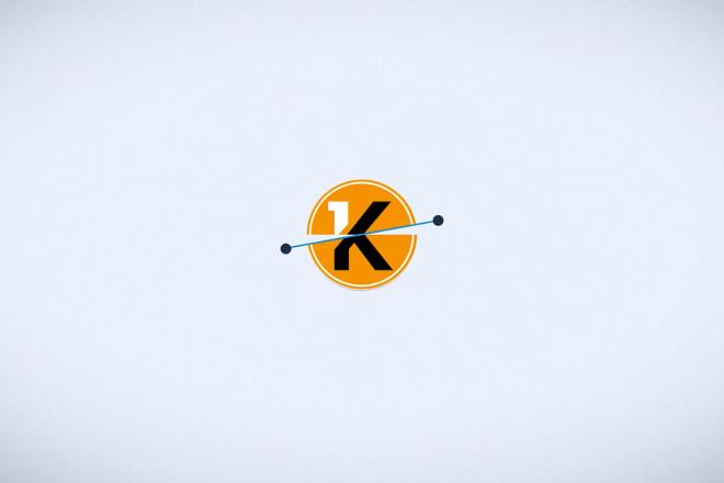 Стильное простое интро с вашим лого 1 - kwork.ru