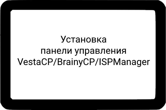 Установка панели управления VestaCP, BrainyCP, ISPManager 1 - kwork.ru