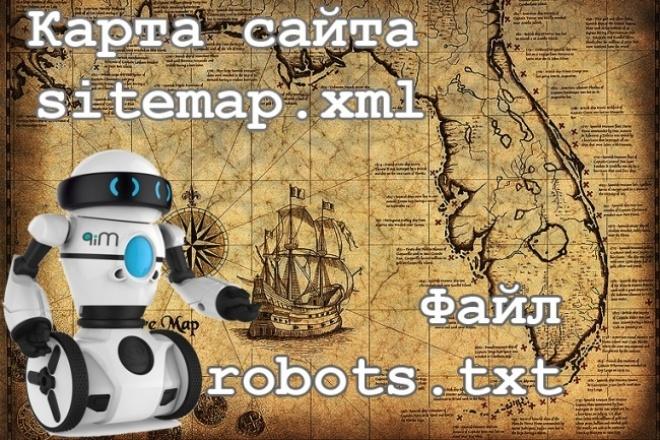 Создам правильную карту сайта sitemap.xml и файл robots.txt 1 - kwork.ru