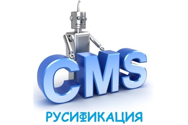 Русифицирую любую CMS на PHP 1 - kwork.ru