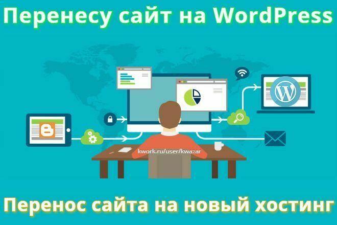 Перенесу ваш сайт WordPress на новый хостинг 1 - kwork.ru