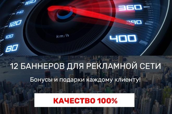 Нарисую 12 статичных баннеров для рекламной сети 7 - kwork.ru