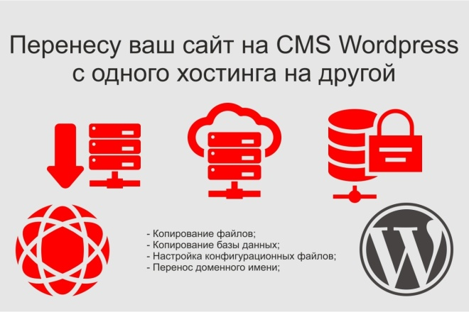 Перенос сайта CMS Wordpress на новый хостинг 1 - kwork.ru