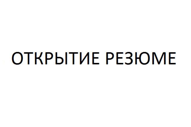 Доступ к резюме. Открыть резюме 20 шт 1 - kwork.ru