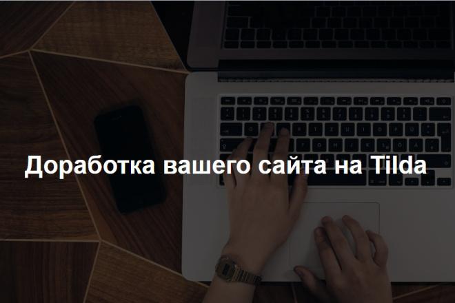 Доработка сайта на Тильде 1 - kwork.ru