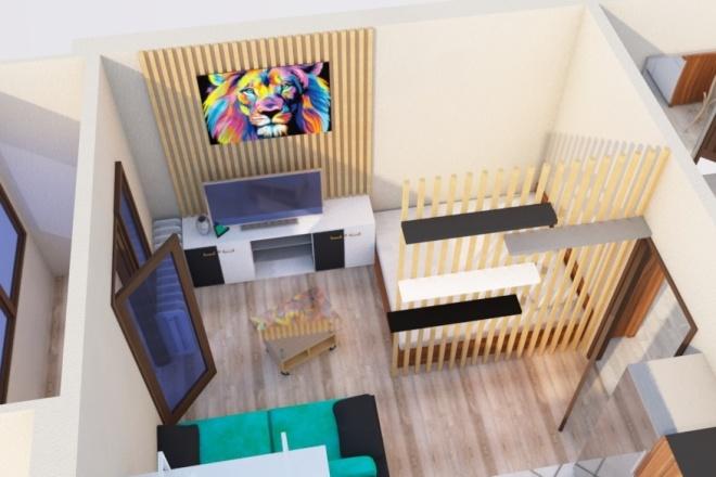 Создам планировку дома, квартиры с мебелью 78 - kwork.ru