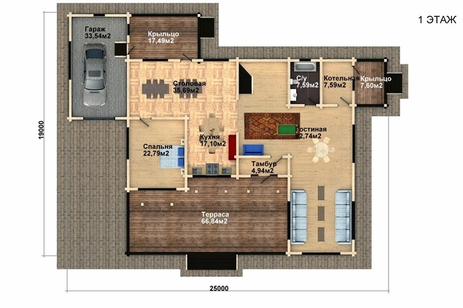 Создам планировку дома, квартиры с мебелью 73 - kwork.ru