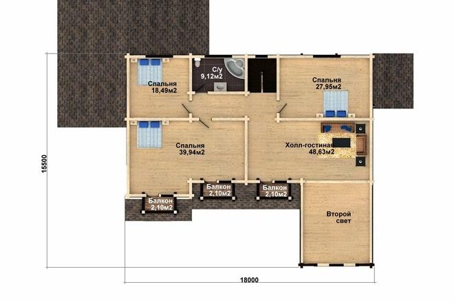 Создам планировку дома, квартиры с мебелью 74 - kwork.ru