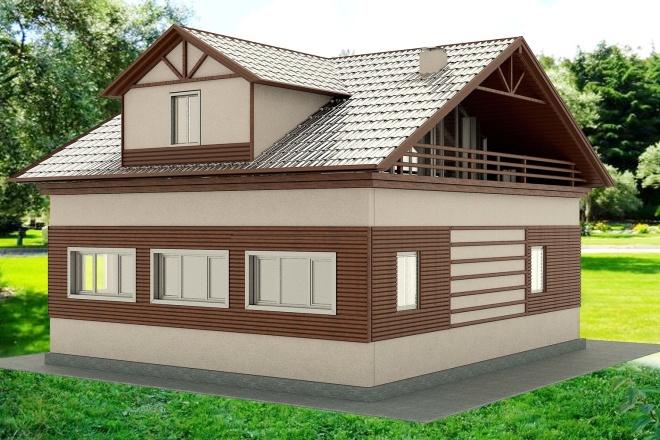 Экстерьеры. 3д модели домов 14 - kwork.ru