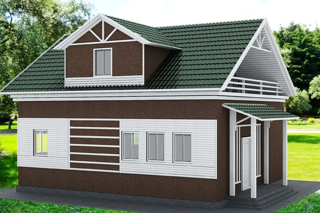 Экстерьеры. 3д модели домов 7 - kwork.ru