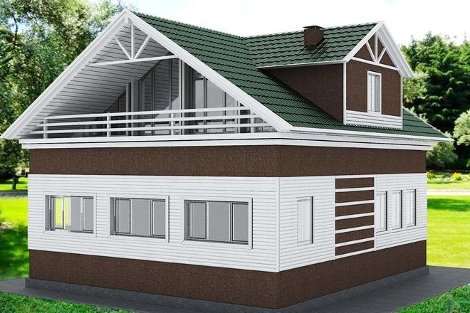 Экстерьеры. 3д модели домов 8 - kwork.ru