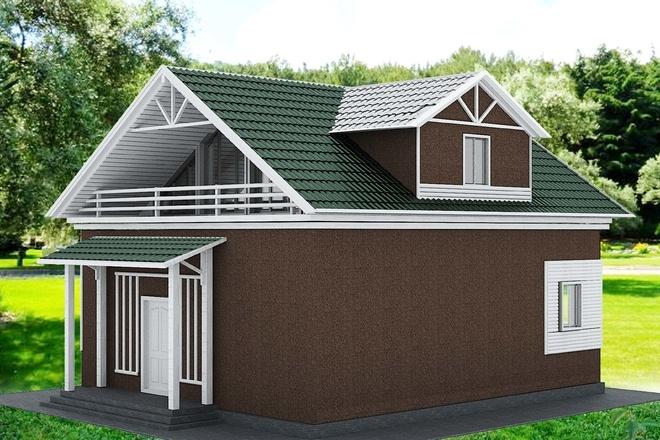 Экстерьеры. 3д модели домов 9 - kwork.ru