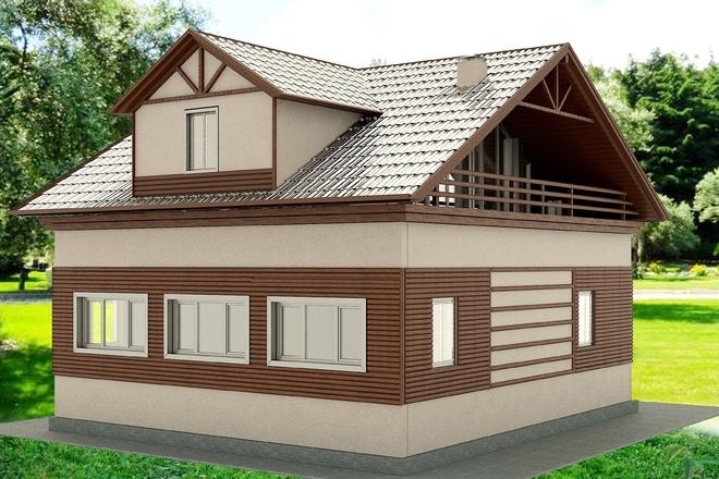 Экстерьеры. 3д модели домов 10 - kwork.ru