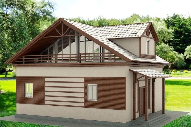 Экстерьеры. 3д модели домов 11 - kwork.ru