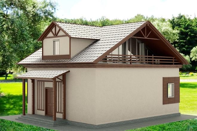 Экстерьеры. 3д модели домов 12 - kwork.ru