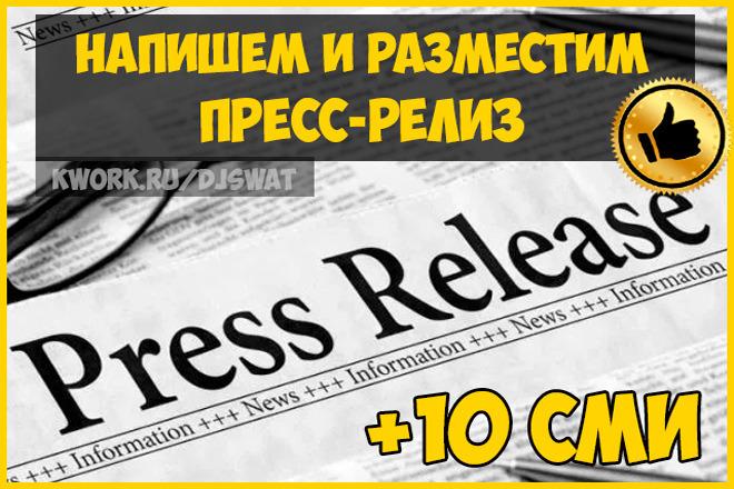 Размещение пресс-релиза с ссылкой на 10 площадках СМИ 1 - kwork.ru
